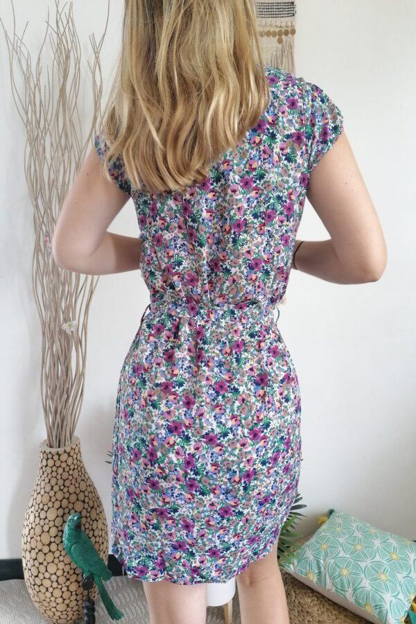 robe fleurine viloet