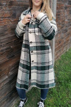 manteau laine gabriel vert 2