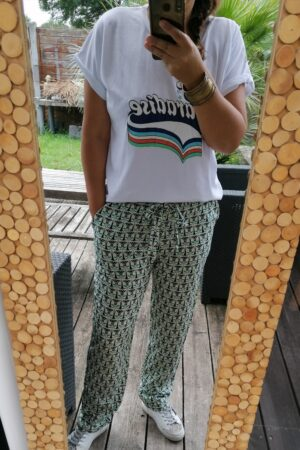 Pantalon maya vert 2