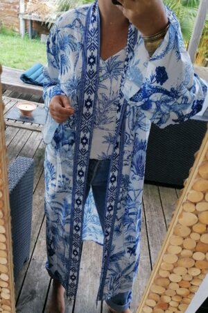 kimono tay bleu 3