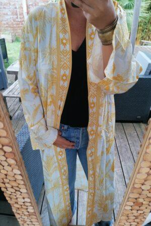 kimono tay jaune