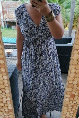 robe majorque bleue